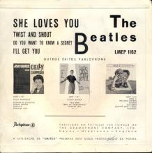 PORTUGAL 001 A - 1963 11 00 - LMEP 1162 - SHE LOVES YOU - DARK RED SLEEVE - pic 1