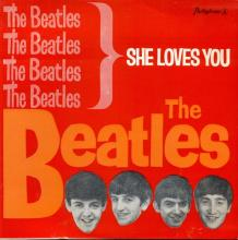 PORTUGAL 001 B - 1963 11 00 - LMEP 1162 - SHE LOVES YOU - BRIGHT RED SLEEVE - pic 1