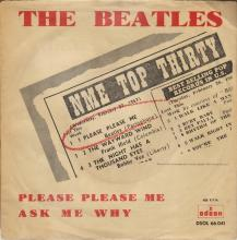 SPAIN 1963 04 30 - PLEASE PLEASE ME ⁄ ASK ME WHY - SLEEVE 07 LABEL B - DSOL 66.041 - pic 1
