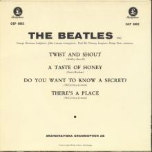 SWEDEN 1963 07 22 - GEP 8882 - 1 - RED LABEL - TWIST AND SHOUT - pic 1