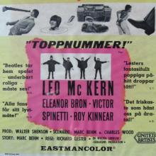 SWEDEN 1965 HJÄLP ! - HELP ! - BEATLES FILMPOSTER MOVIEPOSTER - pic 1