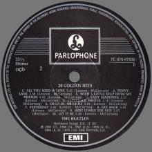 THE BEATLES DISCOGRAPHY FINLAND 1979 07 26 SWEDEN THE BEATLES 20 GOLDEN HITS - 7C 070-07030  - pic 1