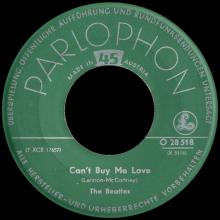 THE BEATLES DISCOGRAPHY AUSTRIA 010 CAN'T BUY ME LOVE ⁄ YOU CAN'T DO THAT - O 28 518 - pic 1
