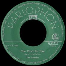 THE BEATLES DISCOGRAPHY AUSTRIA 010 CAN'T BUY ME LOVE ⁄ YOU CAN'T DO THAT - O 28 518 - pic 5