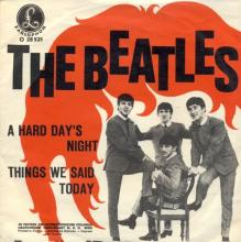 THE BEATLES DISCOGRAPHY AUSTRIA 020 A HARD DAY'S NIGHT ⁄ THINGS WE SAID TODAY - O 28 521 - pic 2