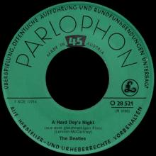 THE BEATLES DISCOGRAPHY AUSTRIA 020 A HARD DAY'S NIGHT ⁄ THINGS WE SAID TODAY - O 28 521 - pic 3