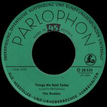 THE BEATLES DISCOGRAPHY AUSTRIA 020 A HARD DAY'S NIGHT ⁄ THINGS WE SAID TODAY - O 28 521 - pic 5