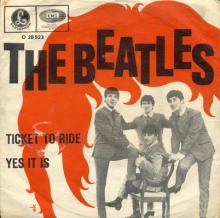 THE BEATLES DISCOGRAPHY AUSTRIA 030 TICKET TO RIDE ⁄ YES IT IS - O 28 523 - pic 1