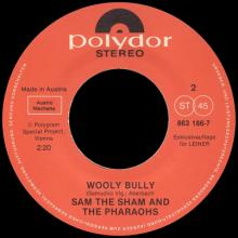 THE BEATLES DISCOGRAPHY AUSTRIA 050 AIN'T SHE SWEET ⁄ WOOLY BULLY - POLYDOR 863 186-7 ⁄ LEINER - pic 1