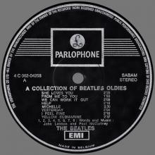 THE BEATLES DISCOGRAPHY BELGIUM 1966 12 10 - 1972 00 00 - A COLLECTION OF BEATLES OLDIES BUT GOLDIES - 4 C 062-04258 - pic 3