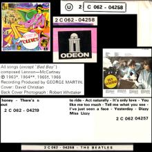 THE BEATLES DISCOGRAPHY BELGIUM 1966 12 10 - 1972 00 00 - A COLLECTION OF BEATLES OLDIES BUT GOLDIES - 4 C 062-04258 - pic 6