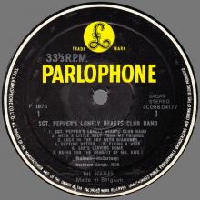 THE BEATLES DISCOGRAPHY BELGIUM 1967 06 01 - 1974 ⁄ 5 - SGT.PEPPERS LONELY HEARTS CLUB BAND - A - PARLOPHONE - 4C 066-04177 - pic 1