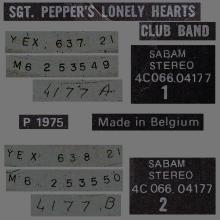 THE BEATLES DISCOGRAPHY BELGIUM 1967 06 01 - 1974 ⁄ 5 - SGT.PEPPERS LONELY HEARTS CLUB BAND - A - PARLOPHONE - 4C 066-04177 - pic 5