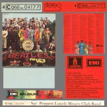 THE BEATLES DISCOGRAPHY BELGIUM 1967 06 01 - 1974 ⁄ 5 - SGT.PEPPERS LONELY HEARTS CLUB BAND - A - PARLOPHONE - 4C 066-04177 - pic 6