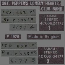 THE BEATLES DISCOGRAPHY BELGIUM 1967 06 01 - 1974 ⁄ 5 - SGT.PEPPERS LONELY HEARTS CLUB BAND - B - PARLOPHONE - 4C 066-04177 - pic 5