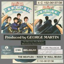 THE BEATLES DISCOGRAPHY BELGIUM 1976 06 10 - THE BEATLES ROCK N ROLL MUSIC - 4C 152-06137 ⁄ 4C 152-06138 - pic 1
