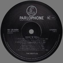 THE BEATLES DISCOGRAPHY BELGIUM 1981 - ROCK 'N' ROLL THE BEATLES & JOHN LENNON - 4M 128-54084 ⁄ 85 / 86     - pic 1