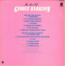 THE BEATLES DISCOGRAPHY BELGIUM 1981 11 25 ⁄ 1976 11 20 - THE BEST OF GEORGE HARRISON - A - MFP - 4M 036-06249 - pic 1