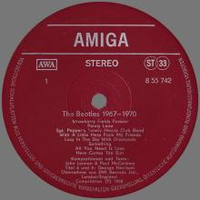 THE BEATLES DISCOGRAPHY DDR GERMANY 1980 01 00 - A - THE BEATLES 1967-1970 - AMIGA VEB DEUTSCHE SCHALLPLATTEN - 8 55 742 - pic 1