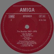THE BEATLES DISCOGRAPHY DDR GERMANY 1980 01 00 - C - THE BEATLES 1967-1970 - AMIGA VEB DEUTSCHE SCHALLPLATTEN - 8 55 742 - pic 1