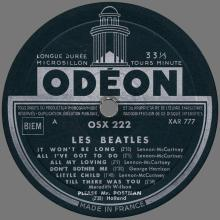 THE BEATLES DISCOGRAPHY FRANCE 1963 12 00 LES BEATLES - A - GREEN ODEON OSX 222 - pic 1