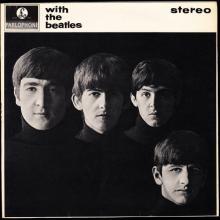 THE BEATLES DISCOGRAPHY FRANCE 1963 12 00 LES BEATLES - K - WITH THE BEATLES - BLACK PAR EMI - PCS 3045 - 1973 EXPORT UK - pic 1