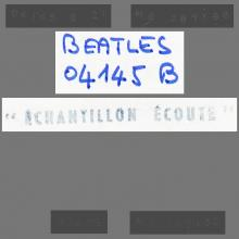THE BEATLES DISCOGRAPHY FRANCE 1972 00 00 - 4 GARÇONS DANS LE VENT - 2C 066-04145 - TEST PRESSING B-SIDE -1 - pic 1