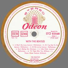 THE BEATLES DISCOGRAPHY GERMANY 1963 12 00  WITH THE BEATLES - B - RED WHITE GOLD ODEON - STO 83568 - pic 1