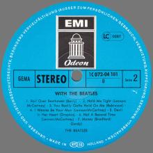 THE BEATLES DISCOGRAPHY GERMANY 1963 12 00  WITH THE BEATLES - F - 1977 - BLUE ODEON - 1C 072-04.181- 400.001 - pic 1