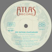 THE BEATLES DISCOGRAPHY AUSTRIA 1964 11 00 DIE GROSSE STARPARADE - ATLAS RECORD - 92 039 STEREO 82 039 HI-FI - 692 039 - 10 INCH - pic 1
