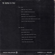 THE BEATLES DISCOGRAPHY ITALY 1965 07 13 ⁄ 1965 THE BEATLES IN ITALY - PMCQ 31506 - pic 1