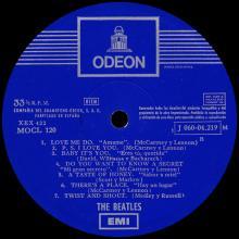 THE BEATLES DISCOGRAPHY SPAIN 1964 01 27 ⁄ 1969 THE BEATLES (PLEASE PLEASE ME) - MOCL 120 ⁄ 1 J 060 - 04219 M - pic 1