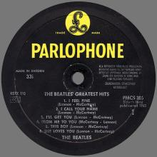 THE BEATLES DISCOGRAPHY SWEDEN 1965 04 01 THE BEATLES' GREATEST HITS - PMCS 306 - pic 1