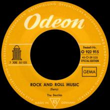 THE BEATLES DISCOGRAPHY SWITZERLAND - ODEON - O 22 915 - ROCK AND ROLL MUSIC ⁄ I'M A LOSER - ORANGE LABEL - pic 1