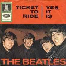 THE BEATLES DISCOGRAPHY SWITZERLAND - ODEON - O 22 950 - TICKET TO RIDE ⁄ YES IT IS - pic 1