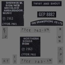 THE BEATLES DISCOGRAPHY UK - 1963 07 12 - TWIST AND SHOUT - GEP 8882 - H - PARLOPHONE - pic 1