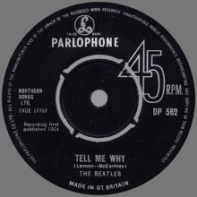 1960 - 1970 - EXPORT RECORD - 1964 10 16 - DP 562 - IF I FELL ⁄ TELL ME WHY - A - B - pic 1
