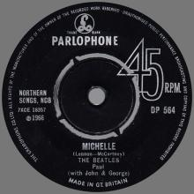 1960 - 1970 - EXPORT RECORD - 1966 07 08 - DP 564 - MICHELLE ⁄ DRIVE MY CAR - pic 1