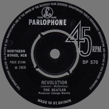 1960 - 1970 - EXPORT RECORD - 1968 08 30 - DP 570 - HEY JUDE ⁄ REVOLUTION  - pic 1