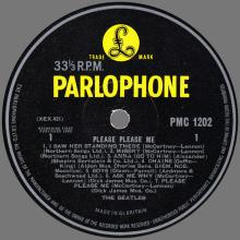 THE BEATLES DISCOGRAPHY UK 1963 03 22 PLEASE PLEASE ME - PMC 1202 - D - YELLOW LABEL - pic 1
