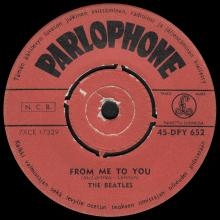 THE BEATLES FINLAND - 001 - 45-DPY 652 - FROM ME TO YOU ⁄ THANK YOU GIRL - pic 1