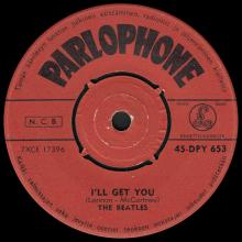 THE BEATLES FINLAND - 002 - 45-DPY 653 - SHE LOVES YOU ⁄ I'LL GET YOU - pic 1