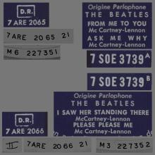 THE BEATLES FRANCE EP - A - 1963 10 16 - 1964 02 00 - BLUE TYPE 2 - ODEON SOE 3739 - SANDWICH COVER - pic 1