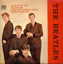 THE BEATLES FRANCE EP - A - 1963 10 16 - BLUE TYPE 1 - ODEON SOE 3739 - STANDARD  - pic 1