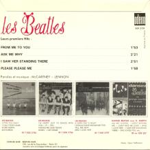 THE BEATLES FRANCE EP - A - 1963 10 16 - 1980 / 1990 - ODEON SOE 3739 - FAKE - SANDWICH COVER - pic 1