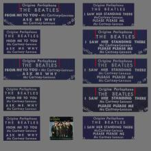 THE BEATLES FRANCE EP - A - 1963 10 16 - BLUE TYPE 1 - 2 - 3 - 4 - 5 - ODEON SOE 3739 - pic 1