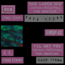 THE BEATLES MULTICOLOR GREECE - GMSP  42- SHE LOVES YOU ⁄ I'LL GET YOU - pic 1