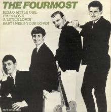 THE FOURMOST - HELLO LITTLE GIRL ⁄ I'M IN LOVE - EMI 2695 - UK - PROMO - EP - pic 1