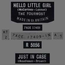 THE FOURMOST - HELLO LITTLE GIRL - R 5056 - UK - pic 1