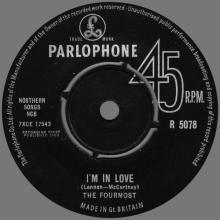 THE FOURMOST - I'M IN LOVE - R 5078 - UK - pic 1